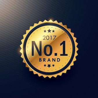 Número de etiqueta dourado prémio de luxo uma marca para anunciar a sua promoção da marca