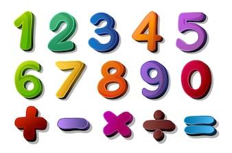 Números e símbolos matemáticos