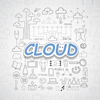 Nuvem elementos ilustração