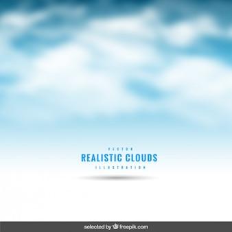 Nuvens realistas fundo