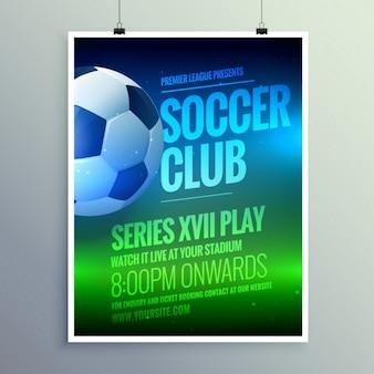 O clube de futebol folheto