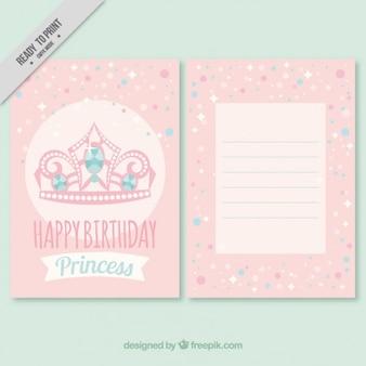 o convite do aniversário da coroa-de-rosa