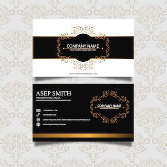 O design elegante do cartão de visita