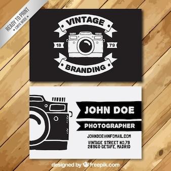 O fotógrafo Cartão de visita