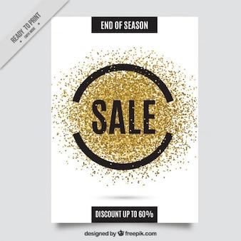 O glitter dourado insecto da venda