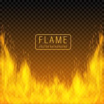 O incêndio inflama o efeito de fundo