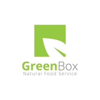 O logotipo da caixa verde