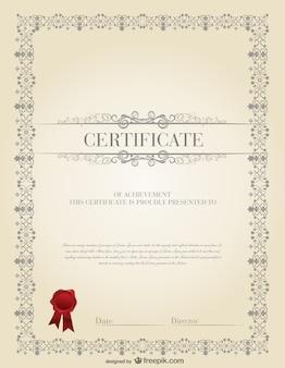 O modelo de certificado de material vector design