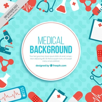 Objetos médicos fundo