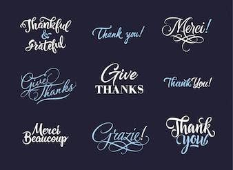 Obrigado coleção de logotipos