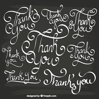 Obrigado lettering