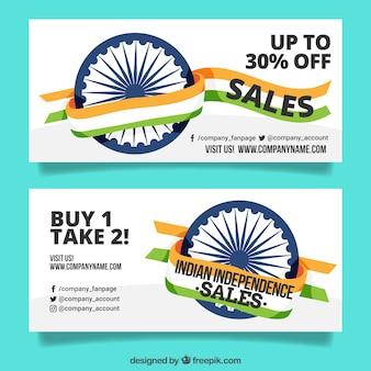Oferece banners do dia da independência indiana
