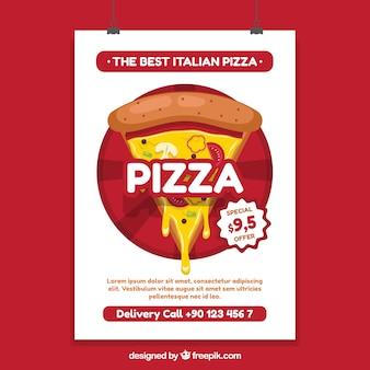 Oferecer cartaz com pizza