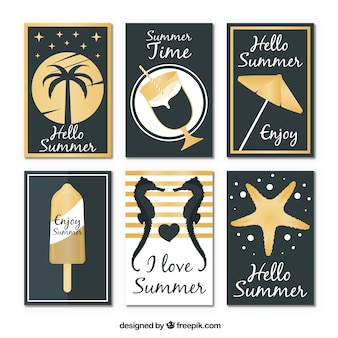Olá coleção de fundo de verão