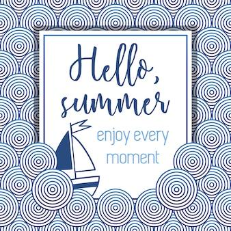 Olá fundo do padrão de verão