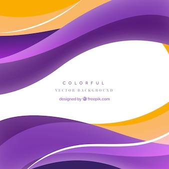 Ondas abstratas fundo colorido do vetor