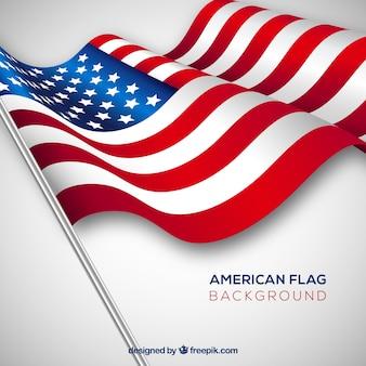 Ondulado, americano, bandeira, realístico, desenho