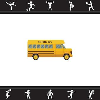 ônibus escolar. ilustração vetorial