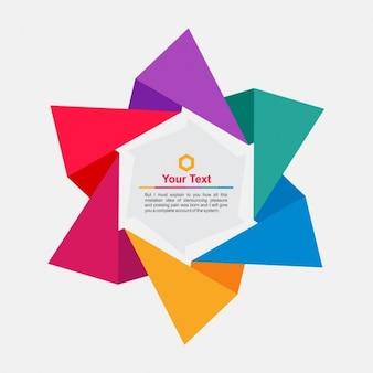 Origami quadro em forma de estrela