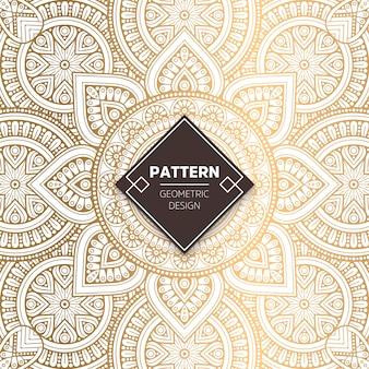 Ornamental padrão de ouro de luxo