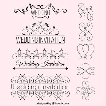 Ornamento do convite do casamento