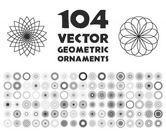 Ornamento geométricos do vetor