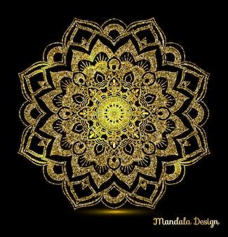 Ornamento mandala ouro