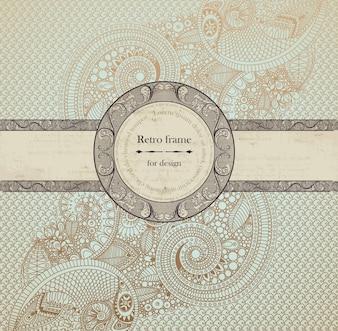 Ornamento, oriental, círculo, menu, sobreposição