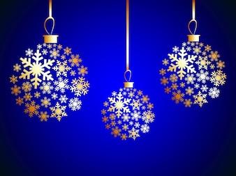 Ornamentos bola cartão do Natal
