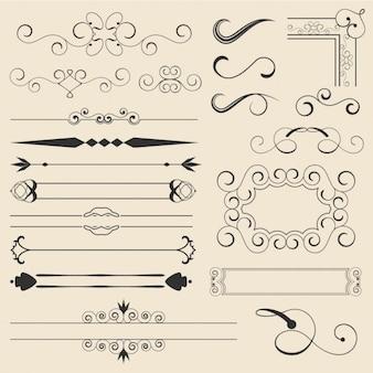 ornamentos decorativos delineadas