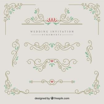 ornamentos elegantes e bonitos do casamento