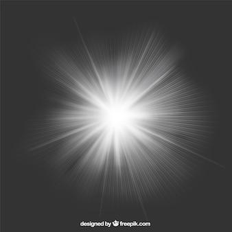Os raios de luz de fundo