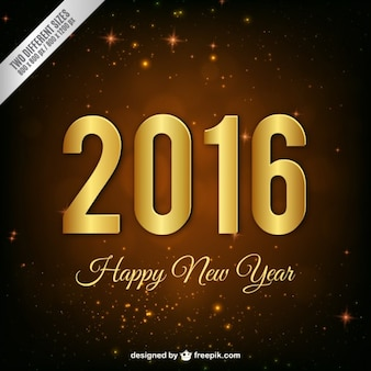 Ouro novo fundo ano de 2016
