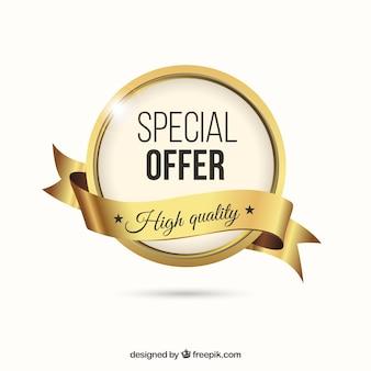 Ouro rótulo especial oferta
