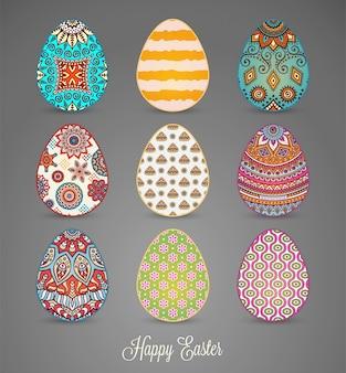 Ovos de Páscoa com mandalas