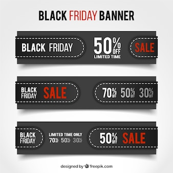 Pack of banners black friday