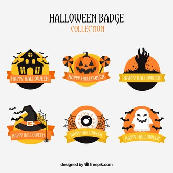 Pack of halloween badges