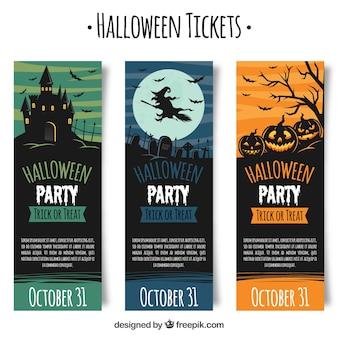 Pacote clássico de inesquecíveis bilhetes de Halloween