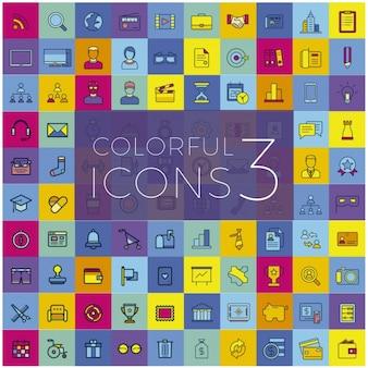 Pacote colorido de ícones