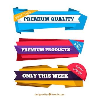 Pacote de bandejas de origami premium