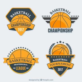 Pacote de basquetebol adesivos