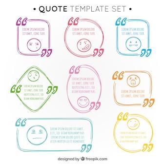 Pacote de citações desenhadas à mão