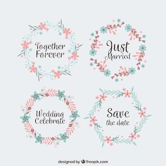 Pacote de coroas de flores do casamento de quatro primavera