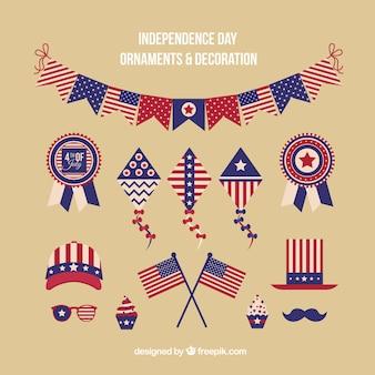 pacote de decoração americana