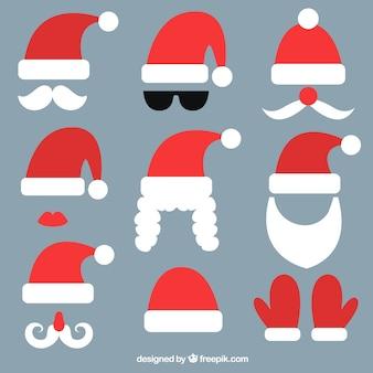 Pacote de elementos de Papai Noel