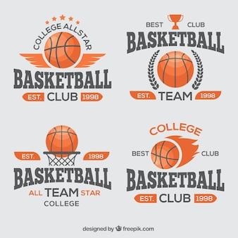 Pacote de emblemas de basquete