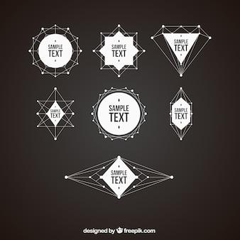 Pacote de emblemas formas geométricas