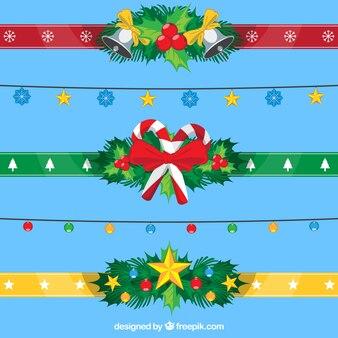 Pacote de fitas coloridas de Natal