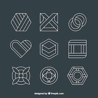 Pacote de logos abstratos lineares