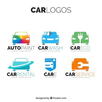Pacote de logotipos de carros coloridos